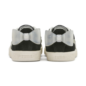 Thumbnail 3 of Suede Bow Jelly Babies' Trainers, Puma Black-Glac Gray-Silver, medium