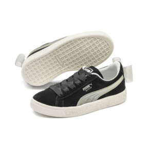 Thumbnail 2 of Suede Bow Jelly Babies' Trainers, Puma Black-Glac Gray-Silver, medium