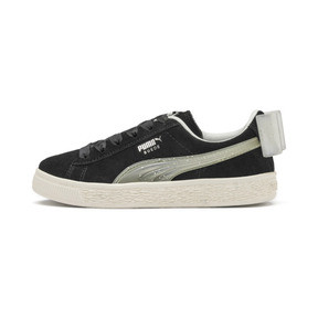 Thumbnail 1 of Suede Bow Jelly Babies' Trainers, Puma Black-Glac Gray-Silver, medium