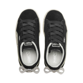 Thumbnail 6 of Suede Bow Jelly Babies' Trainers, Puma Black-Glac Gray-Silver, medium