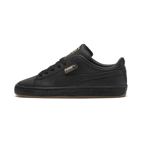 Basket Classic Gum Youth Trainers, Puma Black-Gum, large