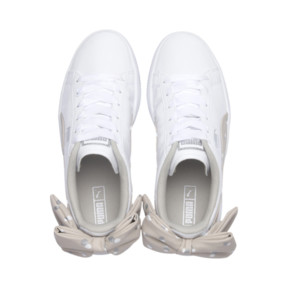 Thumbnail 6 of Basket Bow Dots Girls' Trainers, Puma White-Silver Gray, medium