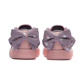Thumbnail 3 of Basket Bow Dots Kids Girls' Trainers, Peach Bud-Elderberry, medium