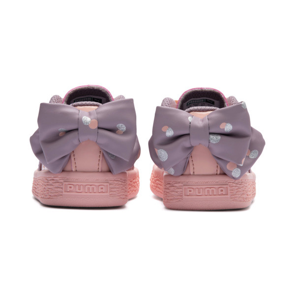 Basket Bow Dots Kids Girls' Trainers, Peach Bud-Elderberry, large