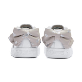 Thumbnail 3 of Basket Bow Dots Kids Girls' Trainers, Puma White-Silver Gray, medium