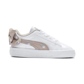 Thumbnail 5 of Basket Bow Dots Kids Girls' Trainers, Puma White-Silver Gray, medium