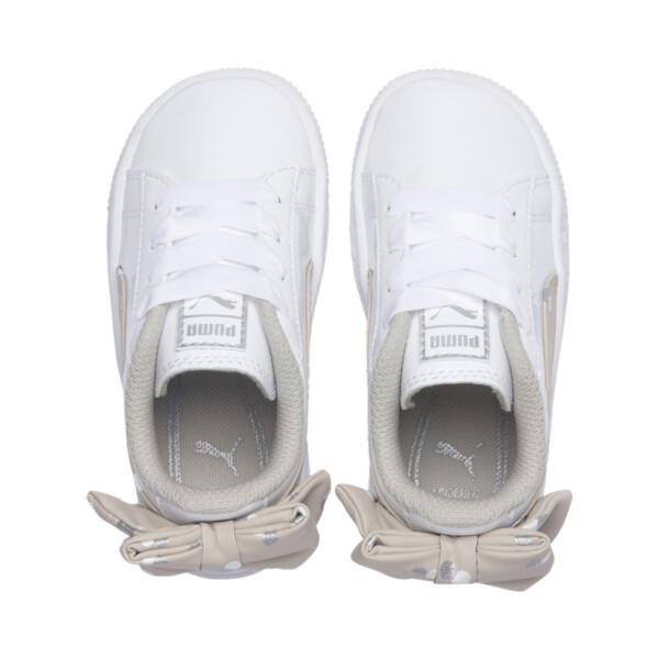 キッズ ガールズ バスケット BOW ドッツ AC PS (17-21cm), Puma White-Silver Gray, large-JPN