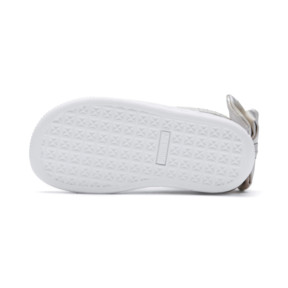 Thumbnail 4 of Basket Bow Dots Babies' Trainers, Puma White-Silver Gray, medium