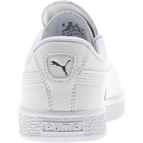Thumbnail 3 of Basket Crush AC Little Kids' Shoes, Puma White-Puma Silver, medium