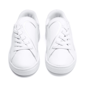 Thumbnail 7 of Basket Crush AC Little Kids' Shoes, Puma White-Puma Silver, medium