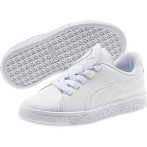 Thumbnail 2 of Basket Crush AC Little Kids' Shoes, Puma White-Puma Silver, medium