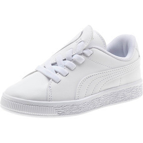 Thumbnail 1 of Basket Crush AC Little Kids' Shoes, Puma White-Puma Silver, medium