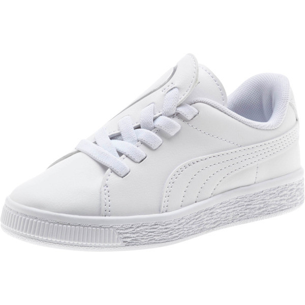 Basket Crush AC Sneakers PS, Puma White-Puma Silver, large