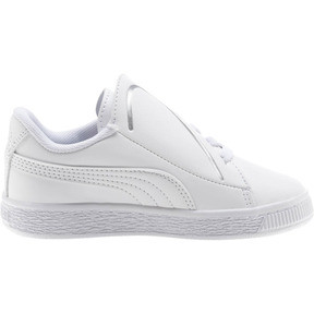 Thumbnail 4 of Basket Crush AC Little Kids' Shoes, Puma White-Puma Silver, medium