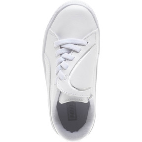 Thumbnail 5 of Basket Crush AC Little Kids' Shoes, Puma White-Puma Silver, medium