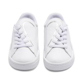 Thumbnail 7 of Basket Crush AC Toddler Shoes, Puma White-Puma Silver, medium