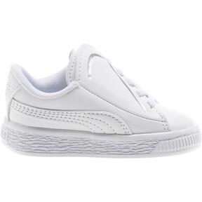 Thumbnail 4 of Basket Crush AC Toddler Shoes, Puma White-Puma Silver, medium