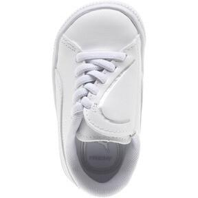 Thumbnail 5 of Basket Crush AC Toddler Shoes, Puma White-Puma Silver, medium