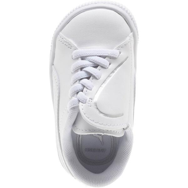 Basket Crush AC Toddler Shoes, Puma White-Puma Silver, large