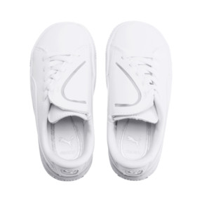 Thumbnail 6 of Basket Crush AC Toddler Shoes, Puma White-Puma Silver, medium