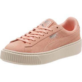 Thumbnail 1 of Suede Super Jewel Platform Sneakers JR, Peach Bud-Whisper White, medium