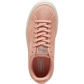 Thumbnail 5 of Suede Super Jewel Platform Sneakers JR, Peach Bud-Whisper White, medium