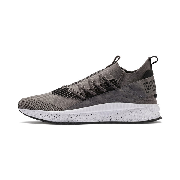 Tsugi Kai Jun Speckle evoKNIT Trainers, Steel Gray-Puma Black, large