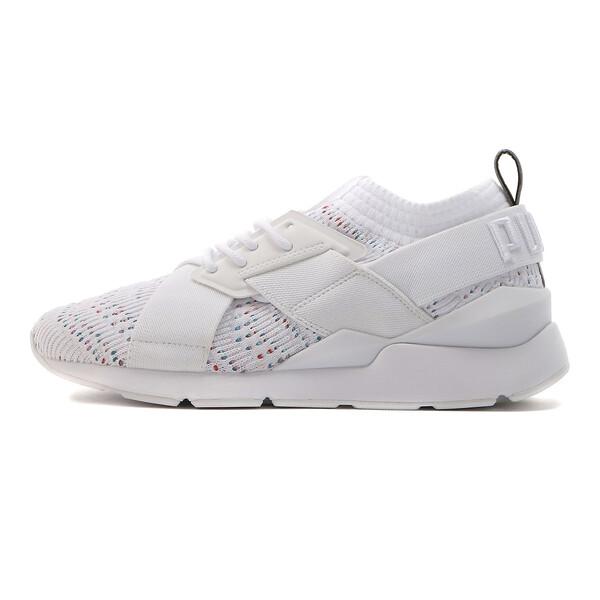 プーマ ミューズ evoKNIT V2 ウィメンズ, Puma White-Puma White, large-JPN