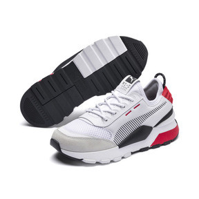 Thumbnail 2 of RS-0 Winter Inj Toys Kids' Trainers, Puma White-High Risk Red, medium