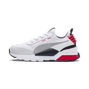 Thumbnail 1 of RS-0 Winter Inj Toys Kids' Trainers, Puma White-High Risk Red, medium
