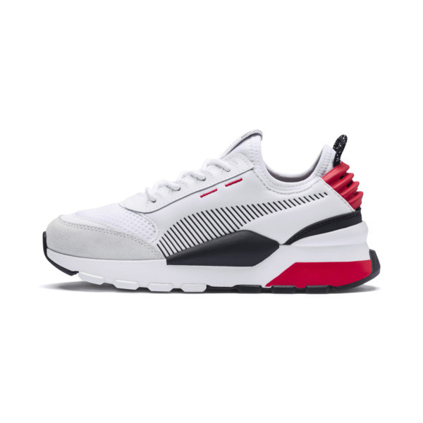 RS-0 Winter Inj Toys Kids' Trainers, Puma White-High Risk Red, large
