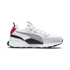 Thumbnail 5 of RS-0 Winter Inj Toys Kids' Trainers, Puma White-High Risk Red, medium