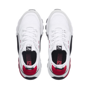 Thumbnail 6 of RS-0 Winter Inj Toys Kids' Trainers, Puma White-High Risk Red, medium