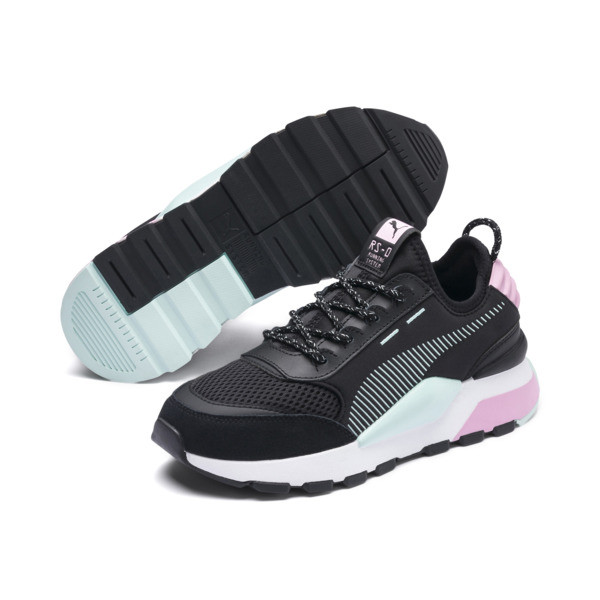 RS-0 Winter Inj Toys Kids' Trainers, Puma Black-Pale Pink, large
