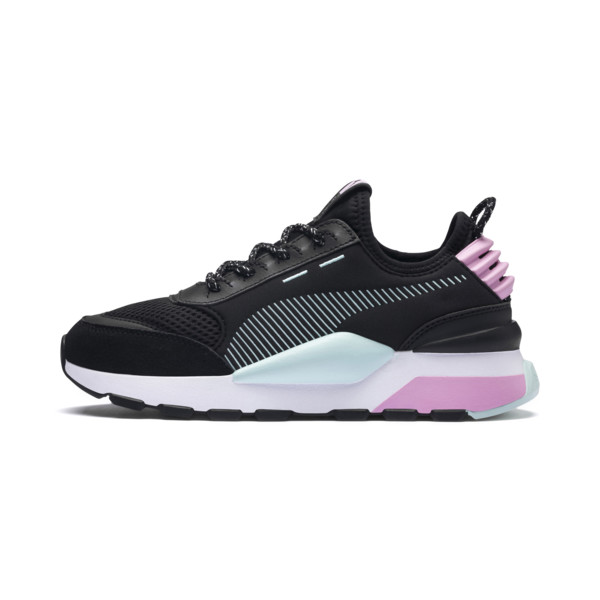 RS-0 Winter Inj Toys Kinder Sneaker, Puma Black-Pale Pink, large
