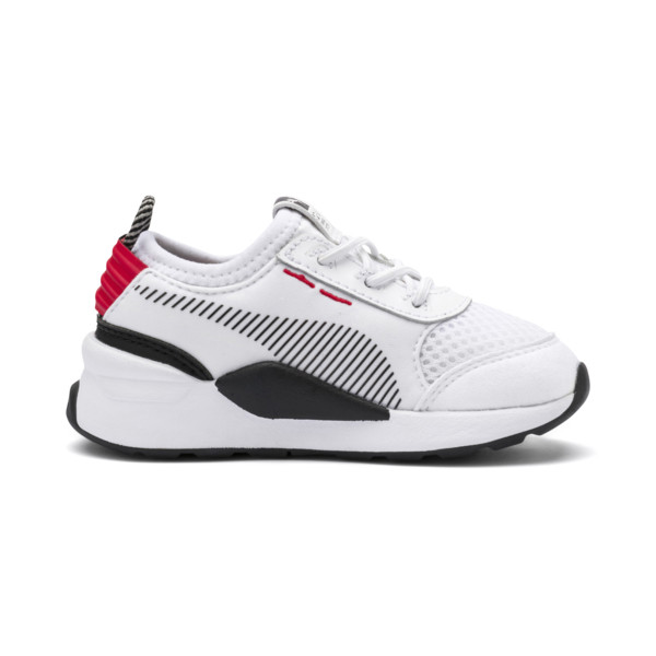 RS-0 Winter Toys Babies' Trainers, Puma White-High Risk Red, large