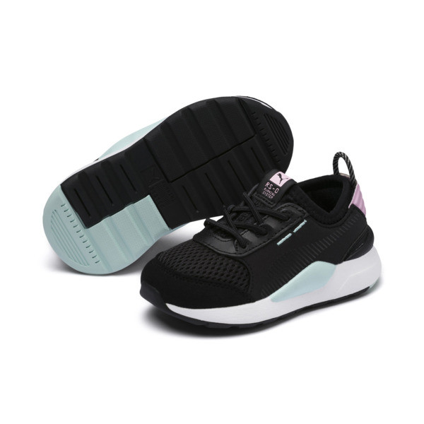 RS-0 Winter Toys Babies' Trainers, Puma Black-Pale Pink, large