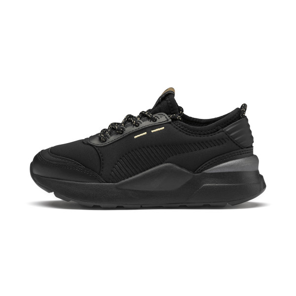 RS-0 Trophy Kids' Trainers, Puma Black-Puma Black, large