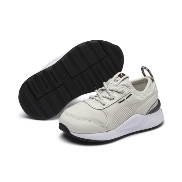 RS-0 Trophy Babies' Trainers, Vaporous Gray-Vaporous Gray, large