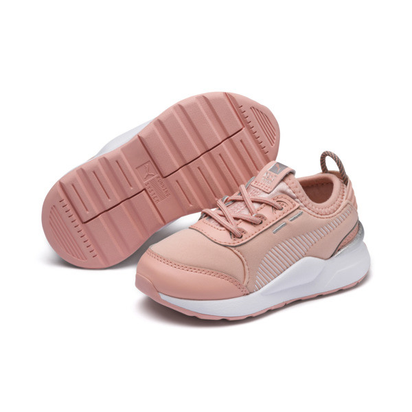 RS-0 Trophy Babies' Trainers, Peach Bud-Peach Bud, large