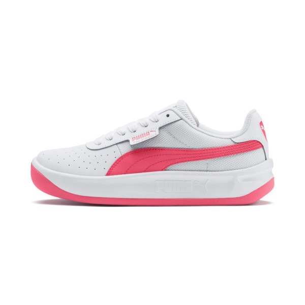 Zapatos deportivos California JR, Puma White-Pink Alert, grande