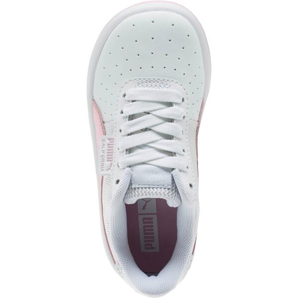Zapatos California para niños pequeños, Puma Wht-Pale Pink-Puma Wht, grande