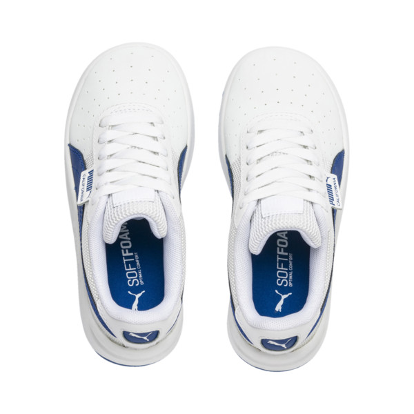 Zapatos California para niños pequeños, Puma White-Galaxy Blue, grande