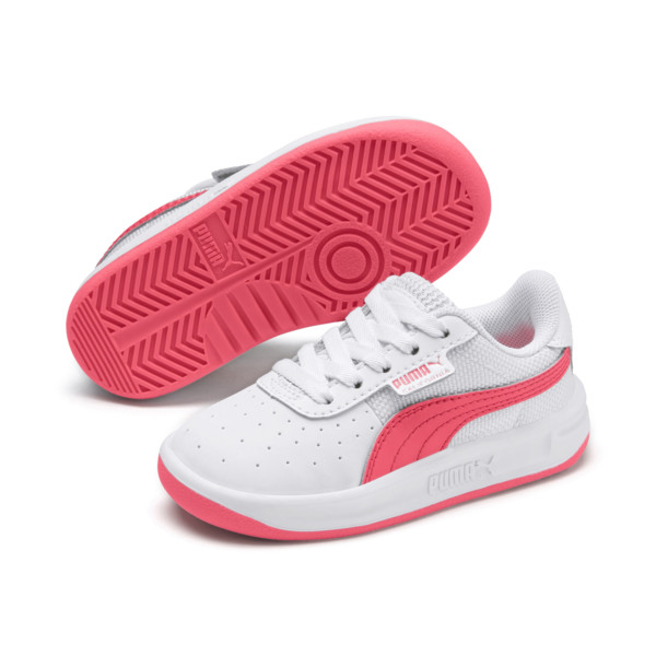 California Toddler Shoes, Puma White-Pink Alert, large
