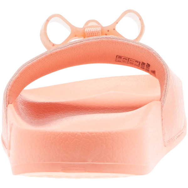 Leadcat Jelly Bow Slides PS, Peach Bud-Bright Peach, large