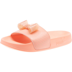Thumbnail 1 of Leadcat Jelly Bow Slides PS, Peach Bud-Bright Peach, medium