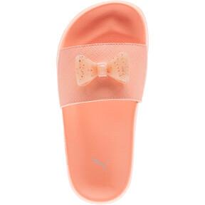 Thumbnail 5 of Leadcat Jelly Bow Slides PS, Peach Bud-Bright Peach, medium