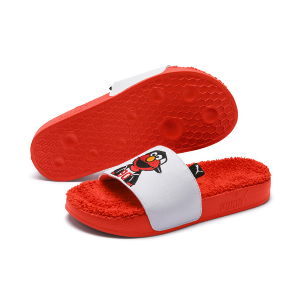 Sesame Street 50 Youth Leadcat Sandals, Cherry Tomato-Puma White, large