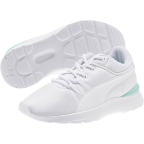 Thumbnail 2 of Adela AC Girl's Sneakers PS, Puma White-Puma White, medium