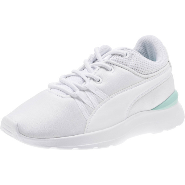 Adela AC Girl's Sneakers PS, Puma White-Puma White, large